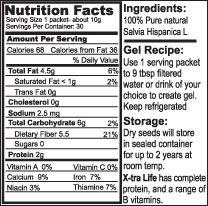 Nutrition Facts Label Close-Up